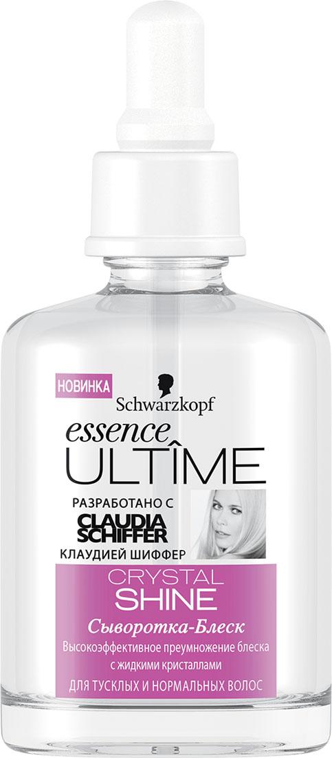 ESSENCE ULTIME Сыворотка Crystal Shine, 50 мл9263066Сыворотка – блеск для тусклых и нормальных волос. Высокоэффективное преумножение блеска с жидкими кристаллами. Предотвращает секущиеся кончики до 90% Для эффекта восстановления всего за 30 секунд