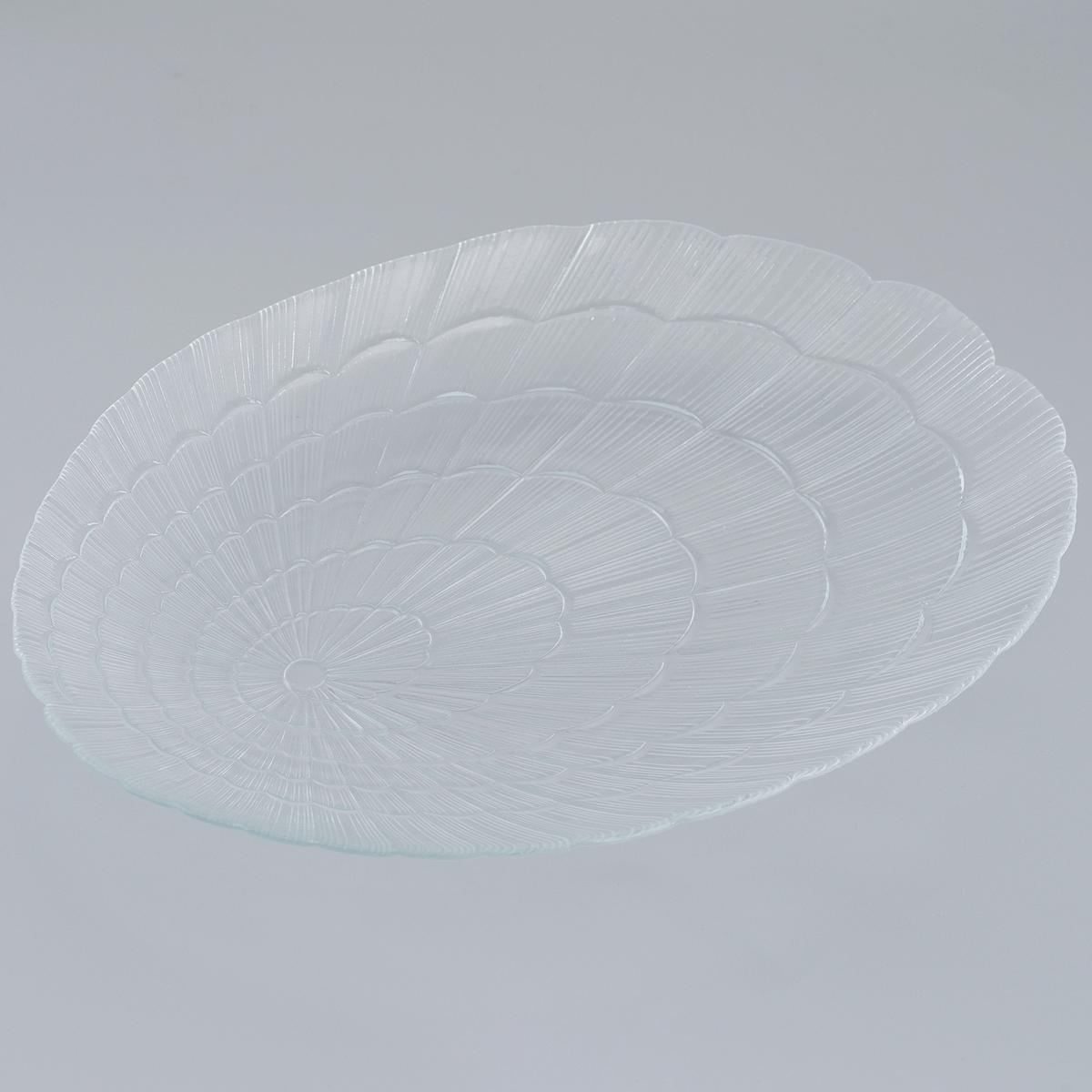 Тарелка Pasabahce Atlantis, овальная, 32 см х 23,5 смVT-1520(SR)Овальная тарелка Pasabahce Atlantis, выполненная из закаленного стекла, декорирована рифленым узором. Она сочетают в себе изысканный дизайн с максимальной функциональностью. Оригинальность оформления тарелки придется по вкусу и ценителям классики, и тем, кто предпочитает утонченность и изящность. Тарелка Pasabahce Atlantis предназначена для красивой сервировки различных блюд. Можно использовать в морозильной камере и микроволновой печи. Можно мыть в посудомоечной машине. Размер тарелки: 32 см х 23,5 см. Высота стенок: 2 см.