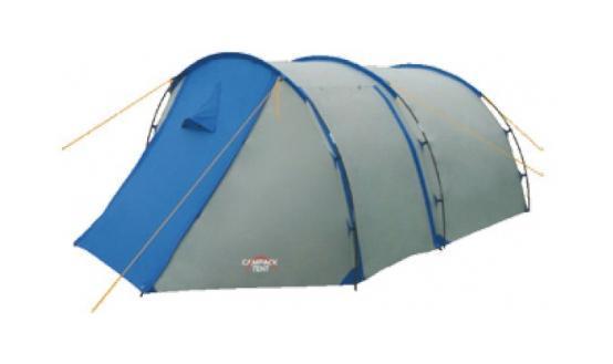 Палатка туристическая CAMPACK-TENT Field Explorer 4 (2013) (серый/голубой) арт.00376380037638Campack-Tent - это классика туристических палаток. Благодаря новой конструкции и третьей дуге у палатки увеличился размер тамбура, а два входа и достаточно большие отверстия для вентиляции обеспечат комфорт даже при высоких температурах.