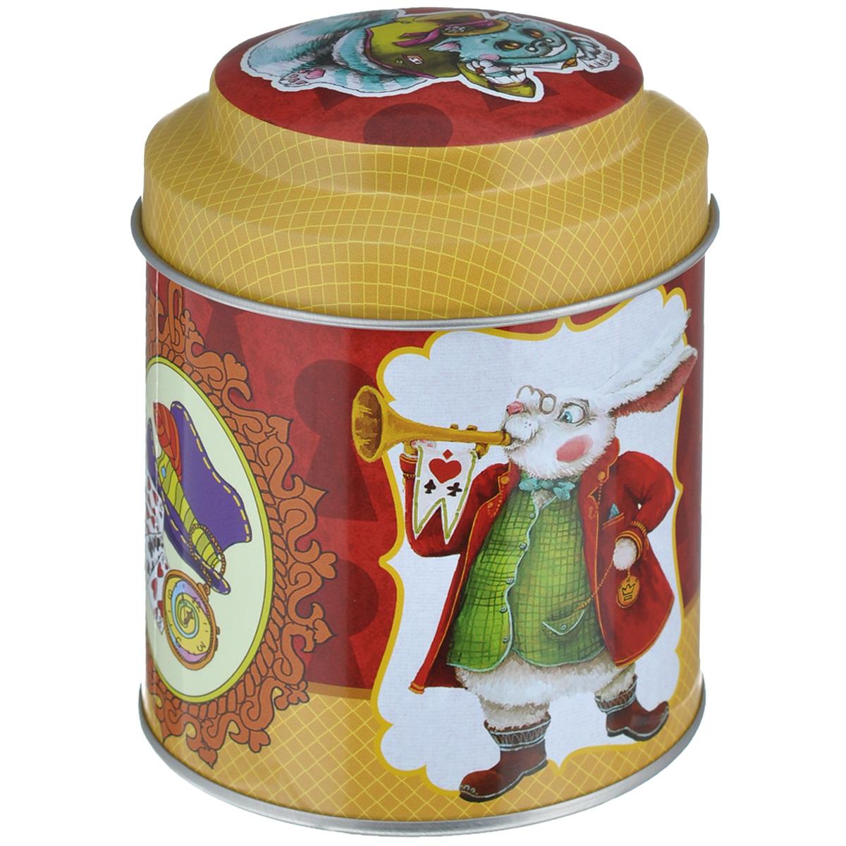 Банка для сыпучих продуктов Феникс-презент Кролик, 680 мл37651Банка для сыпучих продуктов Феникс-презент Кролик, изготовленная из окрашенного черного металла, оформлена ярким рисунком. Банка прекрасно подойдет для хранения различных сыпучих продуктов: специй, чая, кофе, сахара, круп и многого другого. Емкость плотно закрывается крышкой. Благодаря этому она будет дольше сохранять свежесть ваших продуктов. Функциональная и вместительная, такая банка станет незаменимым аксессуаром на любой кухне. Нельзя мыть в посудомоечной машине. Объем банки: 680 мл. Высота банки (без учета крышки): 10 см. Диаметр банки (по верхнему краю): 9 см.