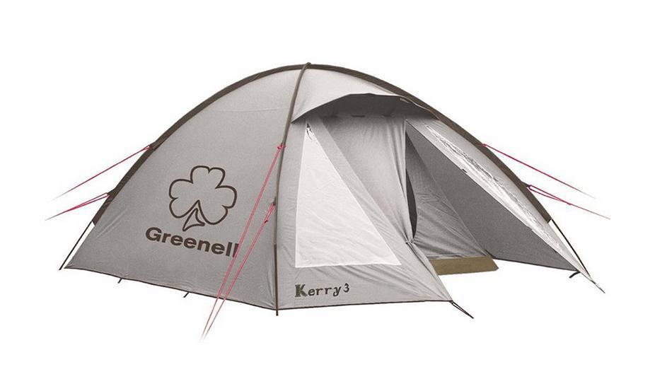 GREENELL Палатка Керри 2 V3, цвет: коричневый. Арт.9551195511-230-00Наличие внешних дуг позволяет сохранять внутреннюю палатку сухой, при установке во время дождя. Увеличенный тамбур с прозрачными окнами, противомоскитная сетка, все швы проклеены. Тент можно устанавливать отдельно. Новая верхняя ткань со специальной пропиткой защищает от ультрафиолета до 90% (UPF 50+) и препятствует распространению огня.