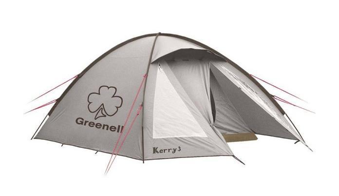 GREENELL Палатка Керри 4 V3, цвет: коричневый. Арт.955130-70-648Оптимальное соотношение вес/комфорт/цена. Наличие внешних дуг позволит сохранить внутреннюю палатку сухой, при установке во время дождя. Увеличенный тамбур с прозрачными окнами, противомоскитная сетка, все швы проклеены. Возможна отдельная установка тента. Новая верхняя ткань со специальной пропиткой защищает от ультрафиолета до 90% (UPF 50+) и препятствует распространению огня.