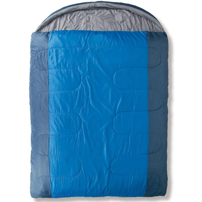 """Спальный мешок Trek Planet """"Safari Double"""", двусторонняя молния, цвет: темно-серый, синий 70369"""