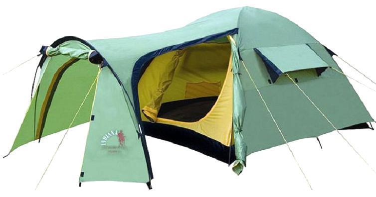 Палатка INDIANA TRAMP 4360300001Четырехместная палатка Indiana TRAMP 4 - очень просторная, имеет вместительный тамбур и отлично подойдет для многодневного отдыха на природе. Материал тента и дна надежно защищен от проникновения влаги, а также не боится прямых солнечных лучей. Размеры внутренней палатки: 210 см х 240 см х 125 см. Размеры внешней палатки: 220 см х 260 см х 130 см.