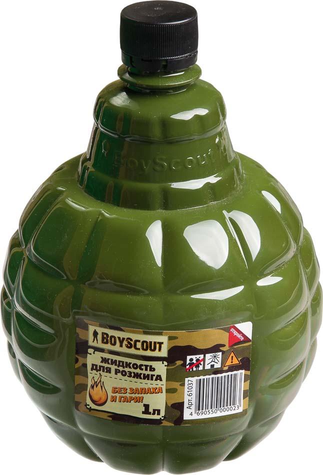 Жидкость для розжига Boyscout, парафиновая, 1 л19201Парафиновая жидкость Boyscout предназначена для розжига древесного угля, дров, топливных брикетов. Не имеет запаха и гари.