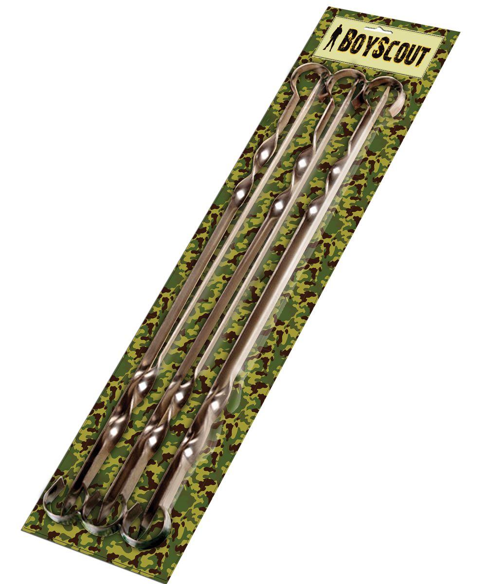 Набор плоских шампуров Boyscout, длина 45 см, 6 шт19201Набор Boyscout состоит из 6 плоских шампуров, предназначенных для приготовления шашлыка. Изделия выполнены из высококачественной пищевой нержавеющей стали. Функциональный и качественный набор шампуров поможет вам в приготовлении вкусного шашлыка на открытом воздухе. Длина шампура: 45 см. Ширина лезвия: 1 см. Толщина лезвия: 0,2 см. Комплектация: 6 шт.