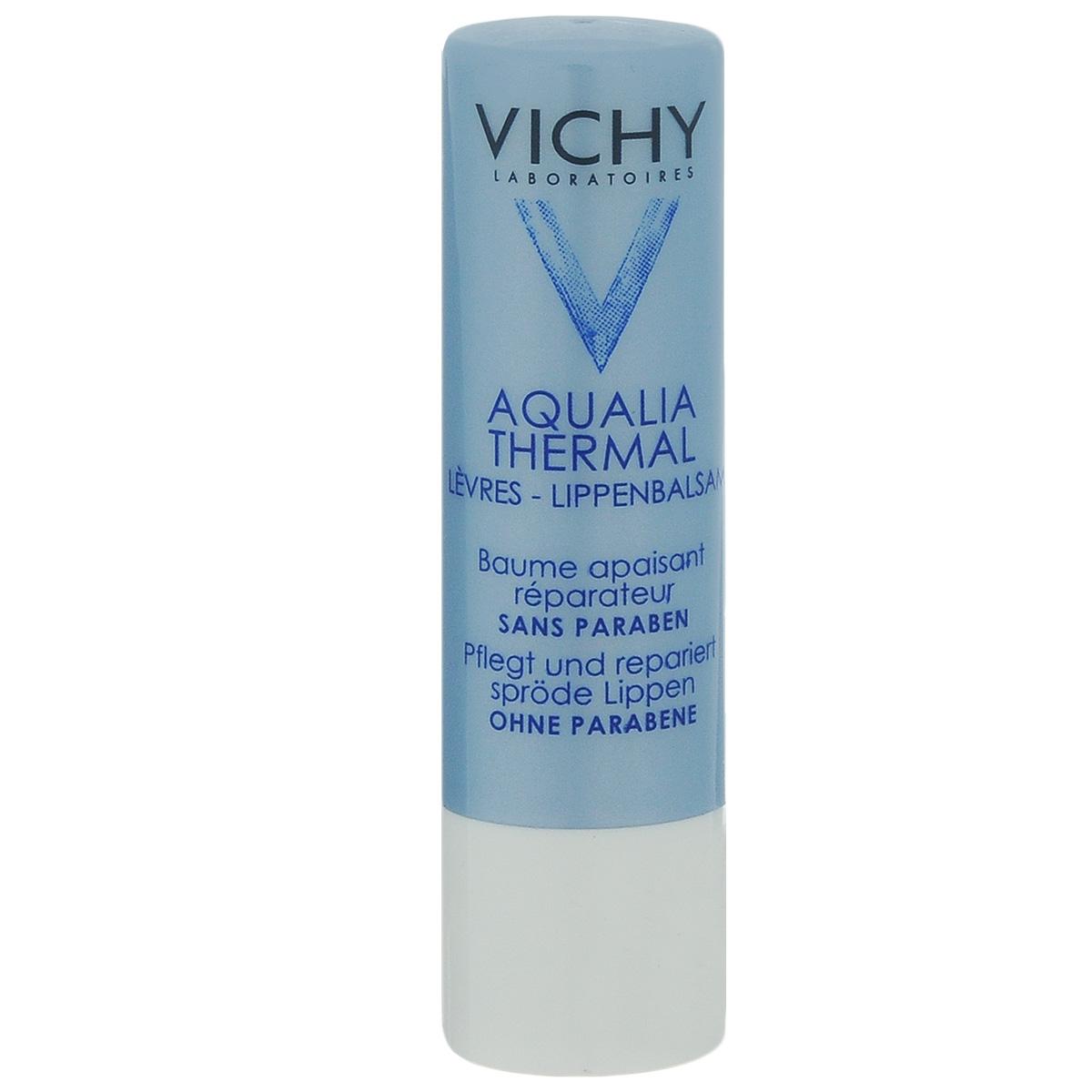 Vichy Aqualia Thermal Увлажняющий и восстанавливающий бальзам для губ Aqualia Thermal, 5 мл vichy увлажняющий спрей активатор для тела capital ideal soleil spf30 200мл пляжная сумка в подарок