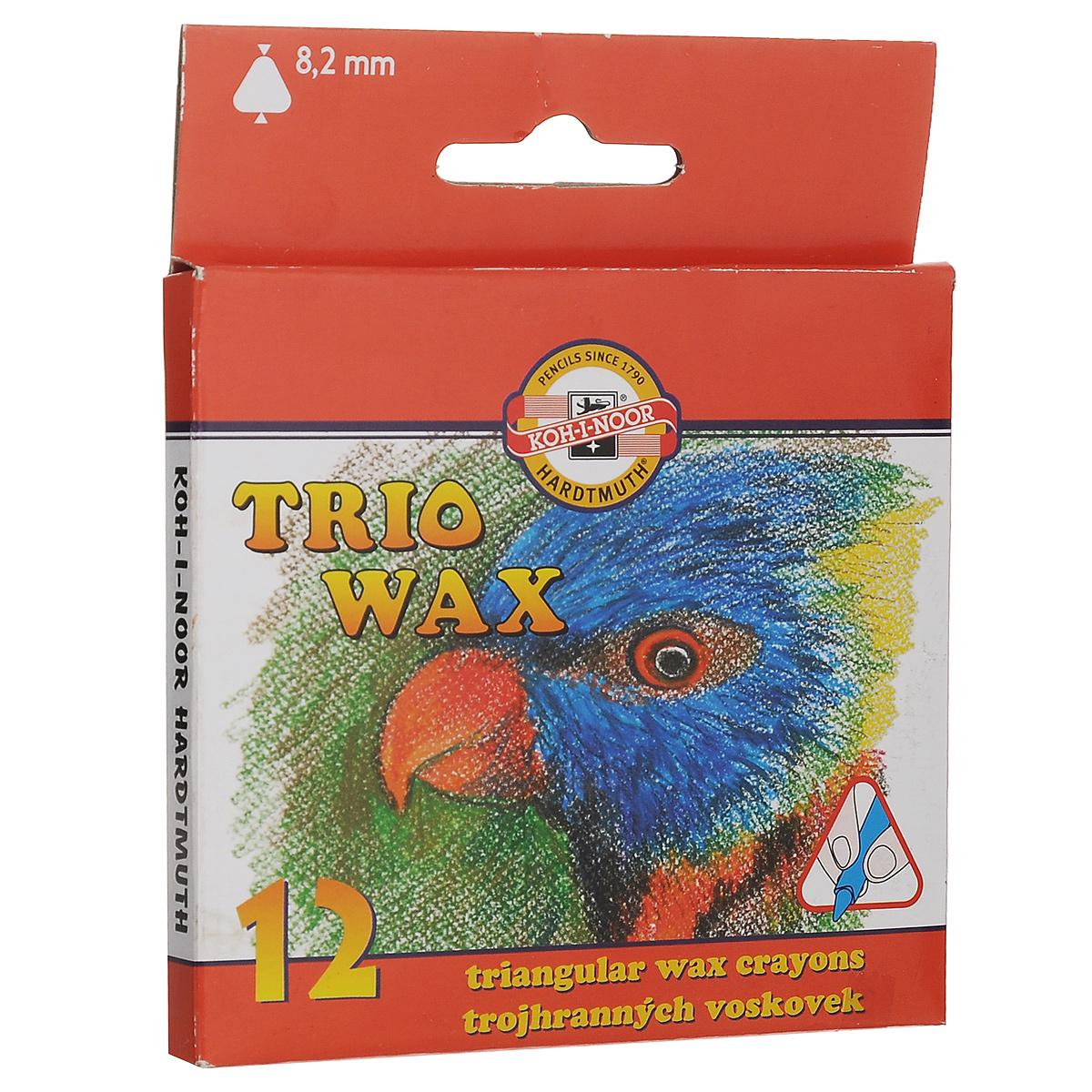 Пастель восковая Koh-i-Noor Trio Wax, трехгранная, 12 цветов8272/12Восковая пастель Koh-i-Noor Trio Wax представляет собой восковые карандаши. Основу замеса восковой пастели составляют воск высшего качества и пигменты. Предназначена пастель для детского творчества. Изделия не содержат токсичных материалов и безопасны для здоровья. Пастель выполнена в удобной трехгранной форме. Количество цветов: 12. Длина пастели: 8,8 см. Размер: 8 мм х 8 мм.