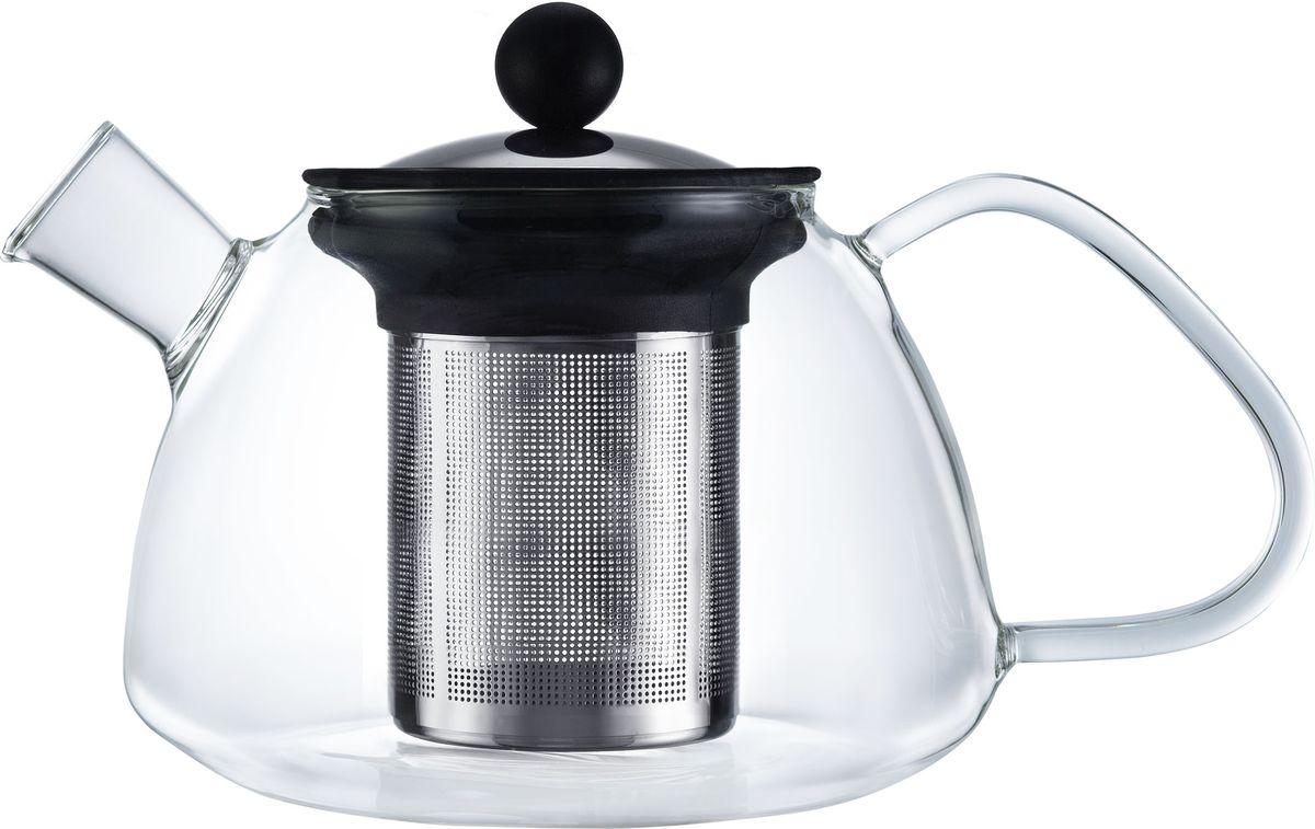 Чайник заварочный Walmer Boss, с фильтром, 1,2 лW03012100Заварочный чайник Walmer Boss, изготовленный из термостойкого стекла, предоставит вам все необходимые возможности для успешного заваривания чая. Чай в таком чайнике дольше остается горячим, а полезные и ароматические вещества полностью сохраняются в напитке. Чайник оснащен фильтром и крышкой из углеродистой стали. Сверху на фильтре имеется силиконовая накладка для надежной фиксации. Простой и удобный чайник поможет вам приготовить крепкий, ароматный чай. Нельзя мыть в посудомоечной машине. Не использовать в микроволновой печи. Диаметр чайника (по верхнему краю): 9 см. Высота чайника (без учета крышки): 12,5 см. Высота фильтра: 11 см.