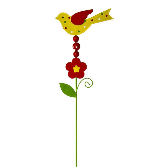Украшение на ножке Village People Гороховая птичка, высота 58 см68477Украшение на ножке Village People Гороховая птичка предназначено для декорирования садового участка, грядок, клумб, цветочных кашпо, а также для поддержки и правильного роста растений. Изделие в ярком симпатичном дизайне изготовлено из прочного металла и дерева. Оно украсит ваш сад и добавит ярких красок. Легко устанавливается в землю.