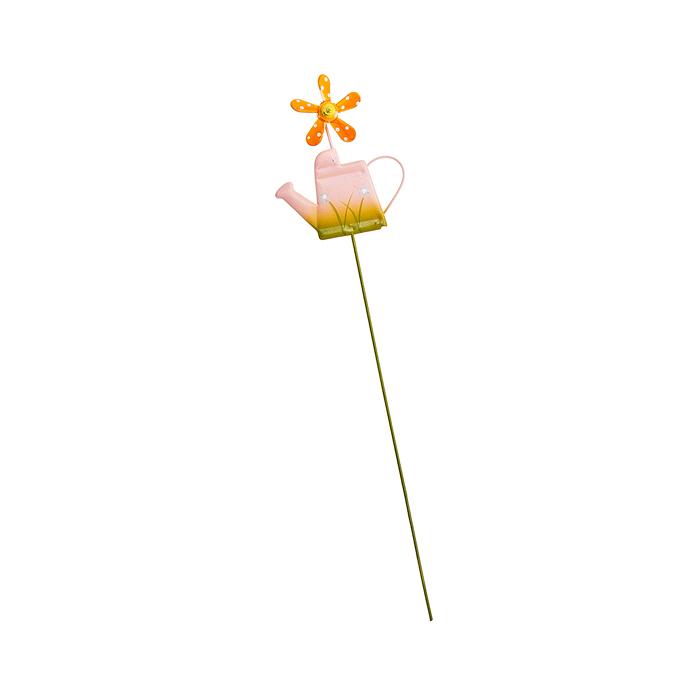 Украшение на ножке Village People Лейка с флюгером, цвет: розовый, высота 27 см19201Украшение на ножке Village People Лейка с флюгером поможет вам дополнить экстерьер красивой и яркой деталью. Такое украшение очень просто вставляется в землю с помощью длинной ножки, оно отлично переносит любые погодные условия и прослужит долгое время. Идеально подходит для декорирования садового участка, грядок, клумб, домашних цветов в горшках, а также для поддержки и правильного роста декоративных растений.Размер декоративного элемента: 6,5 см х 7,5 см. Высота: 27 см.