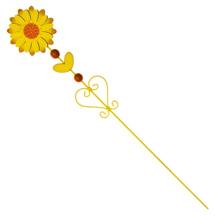 Украшение на ножке Village People Цветущая поляна, цвет: желтый, высота 60 см68478_1Украшение на ножке Village People Цветущая поляна поможет вам дополнить экстерьер красивой и яркой деталью. Такое украшение очень просто вставляется в землю с помощью длинной ножки, оно отлично переносит любые погодные условия и прослужит долгое время. Идеально подходит для декорирования садового участка, грядок, клумб, домашних цветов в горшках, а также для поддержки и правильного роста декоративных растений. Диаметр цветка: 9,5 см. Высота: 60 см.