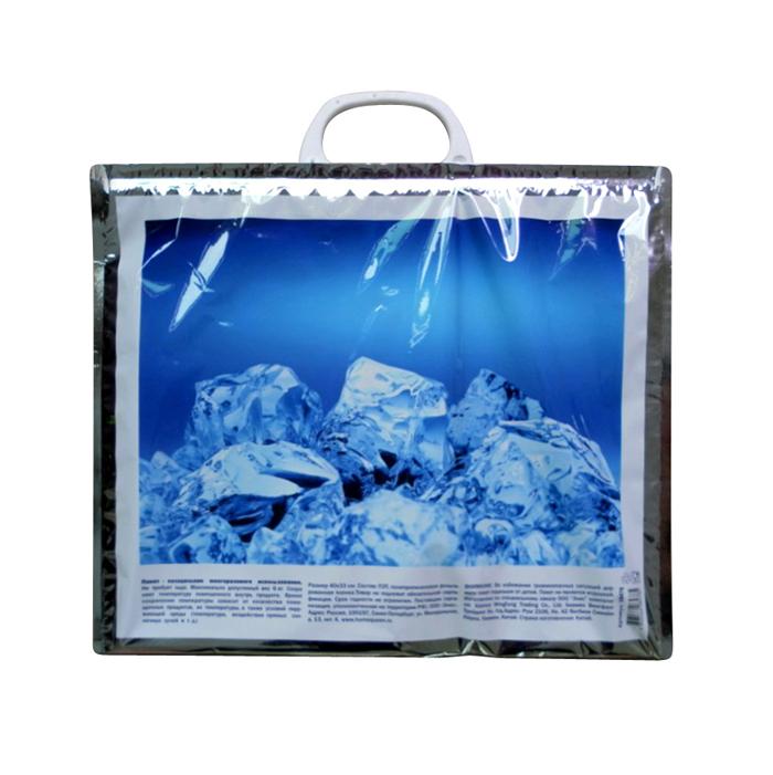 Термопакет Home Queen Лед, 40 х 33 см58478_2Удобный и практичный пакет-холодильник многоразового использования Home Queen Лед изнутри покрыт специальным отражающим материалом и создан для того, чтобы как можно дольше сохранить еду свежей. Надежные застежки удобны в использовании, позволяют моментально закрыть пакет и не дадут ему случайно открыться. Яркий принт делает этот пакет оригинальным аксессуаром. Размер: 40 см х 33 см.