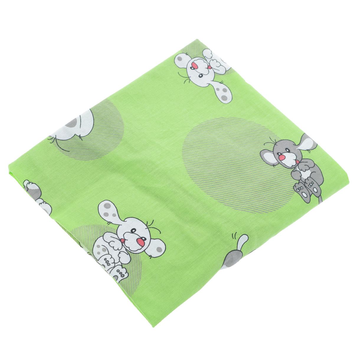 Простыня на резинке Фея Наши друзья, цвет: зеленый, 60 см х 120 см0001050-4Мягкая простыня на резинке Фея Наши друзья идеально подойдет для кроватки вашего малыша и обеспечит ему здоровый сон. Она изготовлена из натурального 100% хлопка, дарящего малышу непревзойденную мягкость. Простыня с помощью специальной резинки растягивается на матрасе. Она не сомнется и не скомкается, как бы не вертелся ребенок. Подарите вашему малышу комфорт и удобство!