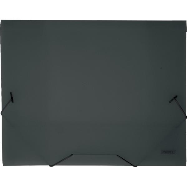 Папка на резинке Proff Next, ширина корешка 20 мм, цвет: темно-серый. Формат А4FS-36054Папка на резинке Proff Next - это удобный и функциональный офисный инструмент, предназначенный для хранения и транспортировки рабочих бумаг и документов формата А4.Папка изготовлена из износостойкого высококачественного полипропилена. Внутри папка имеет три клапана, что обеспечивает надежную фиксацию бумаг и документов. Папка - это незаменимый атрибут для студента, школьника, офисного работника. Такая папка надежно сохранит ваши документы и сбережет их от повреждений, пыли и влаги.
