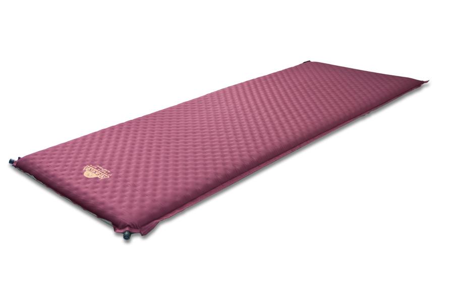 """Коврик самонадувающийся Alexika """"Alpine Plus 80"""", цвет: бордовый, 198 см х 76 см х 7,5 см 9355.7508"""