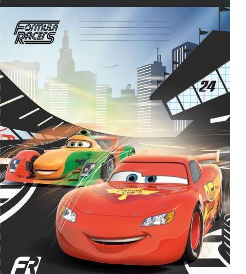Cars Набор тетрадей в линейку, 24 листа, формат А5, 10 шт, цвет: красный, черный124993