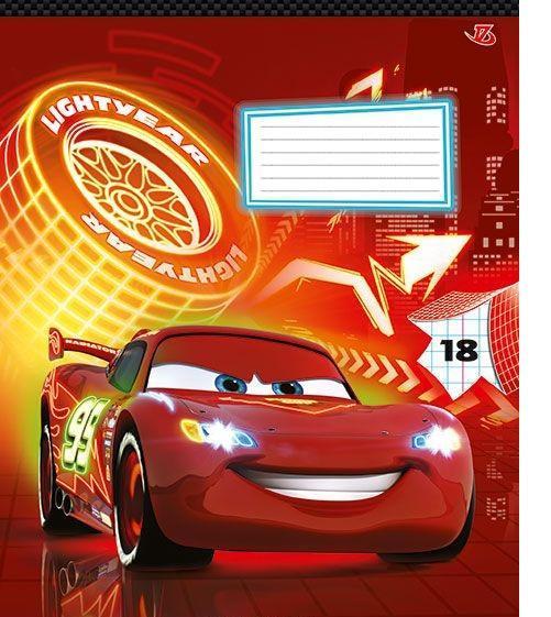 Cars Набор тетрадей в клетку, 18 листов, формат А5, 10 шт125049