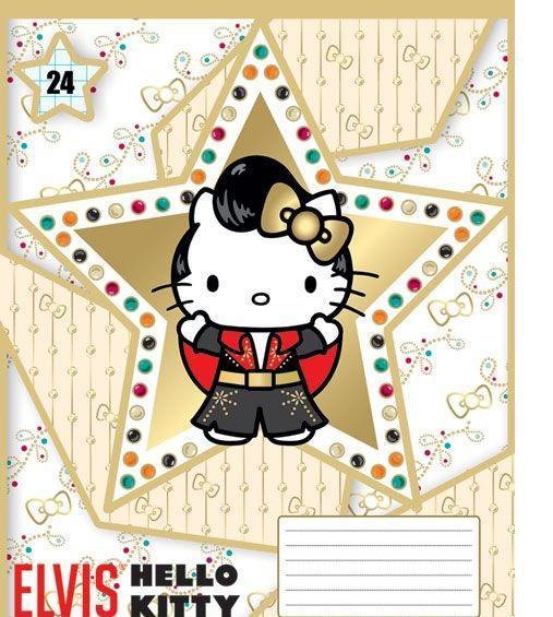 Hello Kitty Набор тетрадей в клетку, 24 листа, формат А5, 10 шт, цвет: золотистый, белый124999