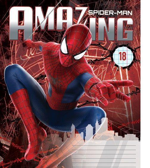 Spider-Man Набор тетрадей в линейку, 18 листов, формат А5, 10 шт125094