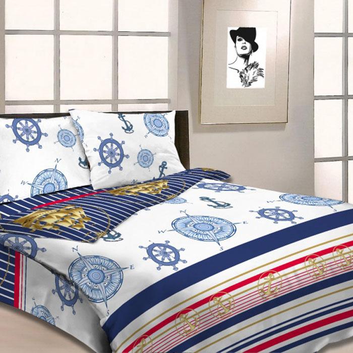 Комплект белья Letto, 1,5-спальный, наволочки 70х70, цвет: голубой. B19-3 комплект белья letto дуэт семейный наволочки 70х70 цвет голубой b33 7