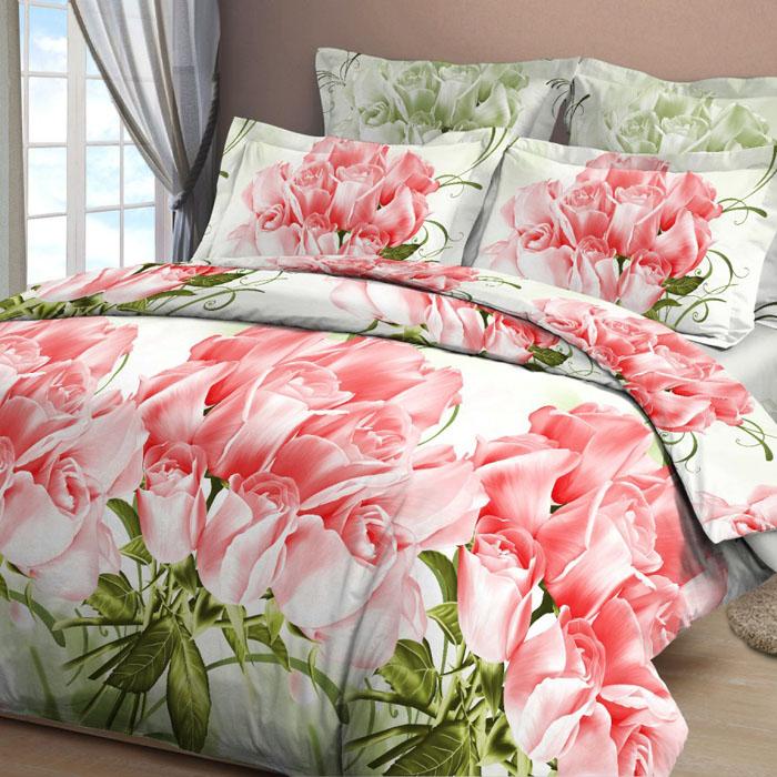 Комплект белья Letto, дуэт семейный, наволочки 70х70, цвет: розовый. B15-7 комплект белья letto дуэт семейный наволочки 70х70 цвет голубой b33 7