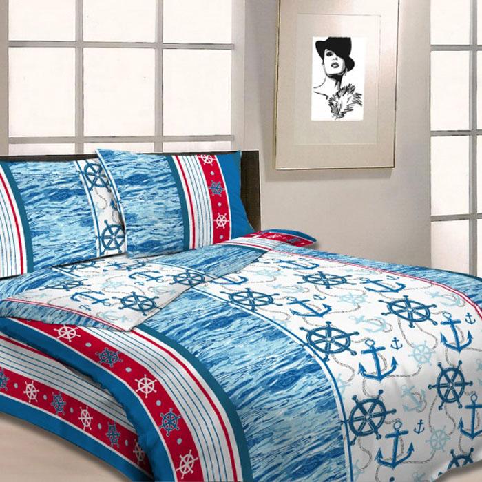 Комплект белья Letto, 1,5-спальный, наволочки 70х70, цвет: голубой. B07-3 комплект белья letto дуэт семейный наволочки 70х70 цвет голубой b33 7