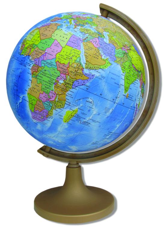 Глобус DMB, c политической картой мира, диаметр 32 см + Мини-энциклопедия Страны МираFS-00897Политический глобус DMB, изготовленный из высококачественногопрочного пластика, дает представление о политическом устройстве мира.Изделие расположено на подставке. Все страны мира раскрашены в разныецвета. На политическом глобусе показаны границы государств, столицы икрупные населенные пункты, а также картографические линии: параллели имеридианы, линия перемены дат. Названия стран на глобусе приведены нарусском языке. Ничто так не обеспечивает всестороннего и детальногоизучения политического устройства мира в таком сжатом и объемном образе,как политический глобус. Сделайте первый шаг в стимулирование своегообучения! К глобусу прилагается мини-энциклопедия Страны Мира с краткимописанием всех стран. Настольный глобус DMB станет оригинальным украшением рабочегостола или вашего кабинета. Это изысканная вещь для стильного интерьера,которая станет прекрасным подарком для современного преуспевающегочеловека, следующего последним тенденциям моды и стремящегося кэлегантности и комфорту в каждой детали.Высота глобуса с подставкой: 50 см.Диаметр глобуса: 32 см.Масштаб: 1:40 000 000.
