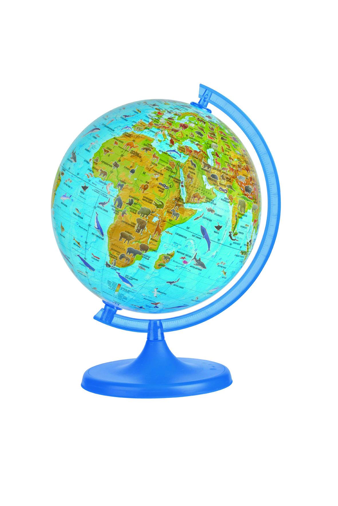"""Глобус """"DMB"""", с зоологической картой мира, диаметр 22 см + Мини-энциклопедия """"Животный Мир Земли"""" ОСН1224110"""