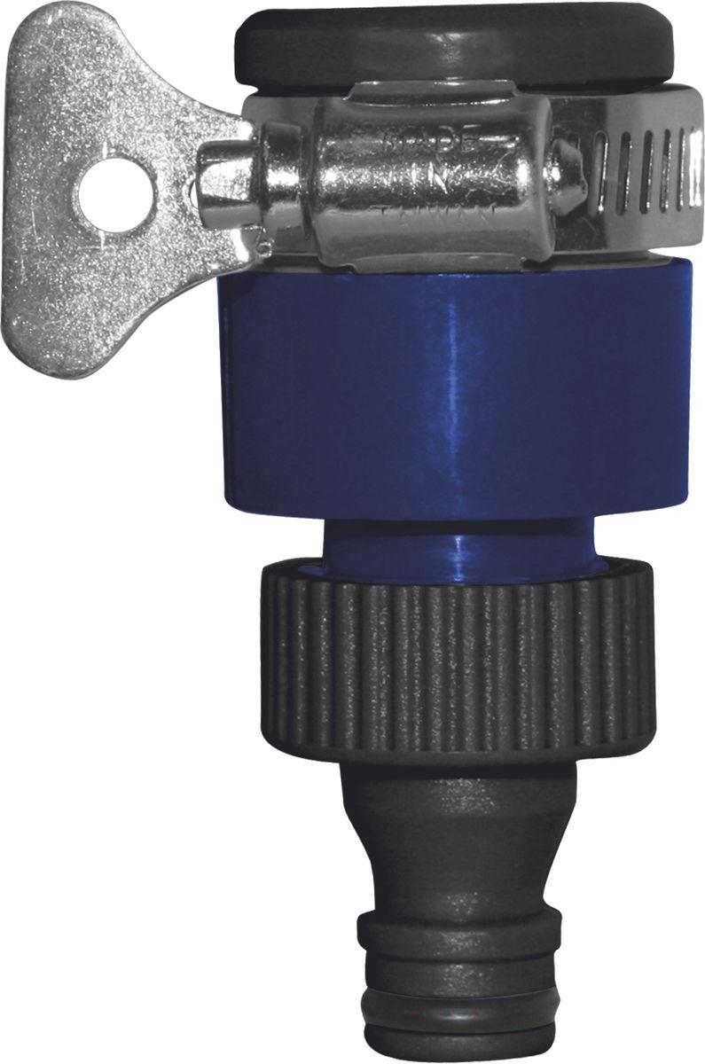 Адаптер для безрезьбовых кранов Green Apple106-029Адаптер Green Apple предназначен для соединения безрезьбовых кранов (до 18 мм) с насадками, в которых нет возможности регулировать напор, а так же дает возможность отключать воду без перекрывания основного крана.Длина адаптера: 8,5 см.