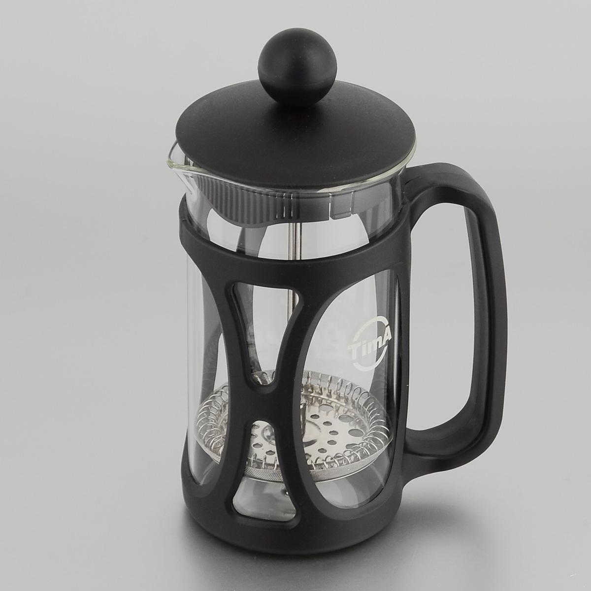 Френч-пресс TimA Маффин, 350 млPM-350Френч-пресс TimA Маффин, изготовленный из жаропрочного стекла и высококачественного пластика, это совершенный чайник для ежедневного использования. Изделие с плотной крышкой и удобной ручкой имеет специальный поршень с фильтром из нержавеющей стали для отделения чайных листьев от воды. После заваривания чая фильтр не надо вынимать. Заваривание чая - это приятное и легкое занятие. Френч-пресс TimA Маффин займет достойное место на вашей кухне. Нельзя мыть в посудомоечной машине. Объем: 350 мл. Диаметр (по верхнему краю): 7 см. Высота (без учета крышки): 13,5 см.
