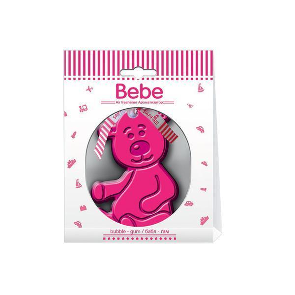 Ароматизатор Sapfire Bebe, мишка бабл гамSAA-07945Подвесной ароматизатор для салона автомобиля Sapfire Bebe имеет приятный аромат. Ароматизатор представляет собой забавную игрушку, пропитанную парфюмерной композицией.