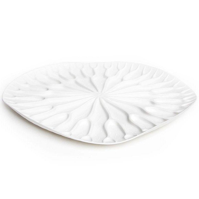 Сушилка-поднос Lotus белаяQL10166-WHКак известно, лотосы растут в воде, а значит, великолепная сушилка для посуды в виде листка лотоса должна быть поближе к раковине. Поставьте ее на столешницу или в шкаф, чтобы вода со свежевымытых стаканов, чашек, тарелок или столовых приборов стекала вниз на силиконовые желобки. Плюс к этому такую красоту можно использовать в качестве сервировочного подноса для овощей и фруктов. Материал: пластик, цвет: Белый