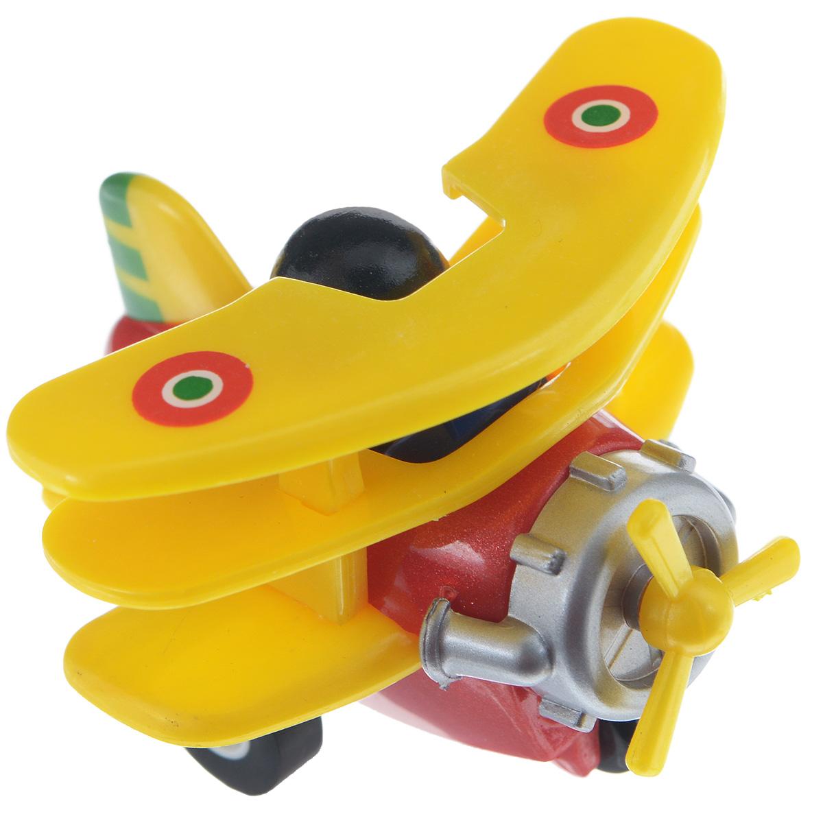 Hans Самолет инерционный цвет желтый красный