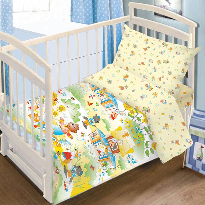 Комплект детского постельного белья Baby Nice Теремок, цвет: желтый, 3 предметаS03301004Детский комплект постельного белья Baby Nice Теремок состоит из наволочки, пододеяльника и простыни на резинке. Такой комплект идеально подойдет для кроватки вашего малыша и обеспечит ему здоровый сон. Он изготовлен из натурального 100% хлопка, дарящего малышу непревзойденную мягкость. Натуральный материал не раздражает даже самую нежную и чувствительную кожу ребенка, обеспечивая ему наибольший комфорт. Простыня с помощью специальной резинки растягивается на матрасе. Она не сомнется и не скомкается, как бы не вертелся ребенок. Приятный рисунок комплекта, несомненно, понравится малышу и привлечет его внимание. На постельном белье Baby Nice Теремок ваша кроха будет спать здоровым и крепким сном.В комплект входит подарок: книжка-раскраска по мотивам русских народных сказок.