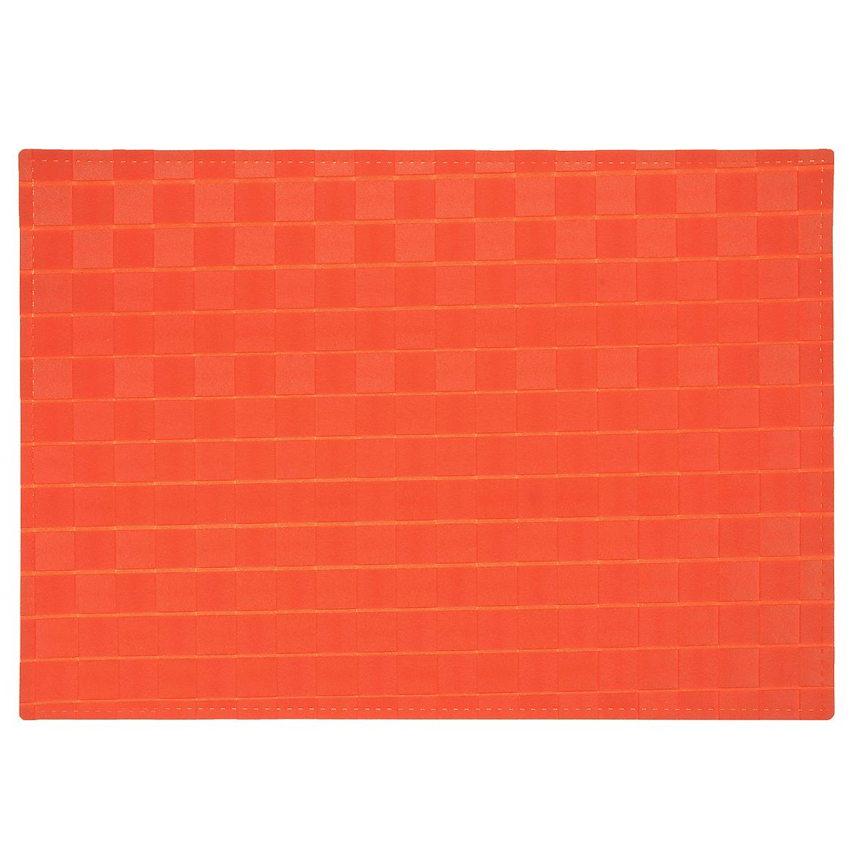 Подставка под горячее Amadeus, цвет: оранжевый, 43 х 30 см28HZ-9043Плетеная прямоугольная подставка под горячее Amadeus выполнена из мягкого цветного пластика. Подставка не боится высоких температур и легко чистится от пятен и жира. Каждая хозяйка знает, что подставка под горячее - это незаменимый и очень полезный аксессуар на каждой кухне. Ваш стол будет не только украшен оригинальной подставкой, но и сбережен от воздействия высоких температур ваших кулинарных шедевров. Размер подставки: 43 см х 30 см.