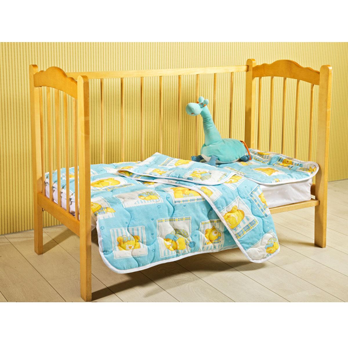 Одеяло детское Primavelle Fani, стеганое, цвет: голубой, 110 см х 140 см123110307-18