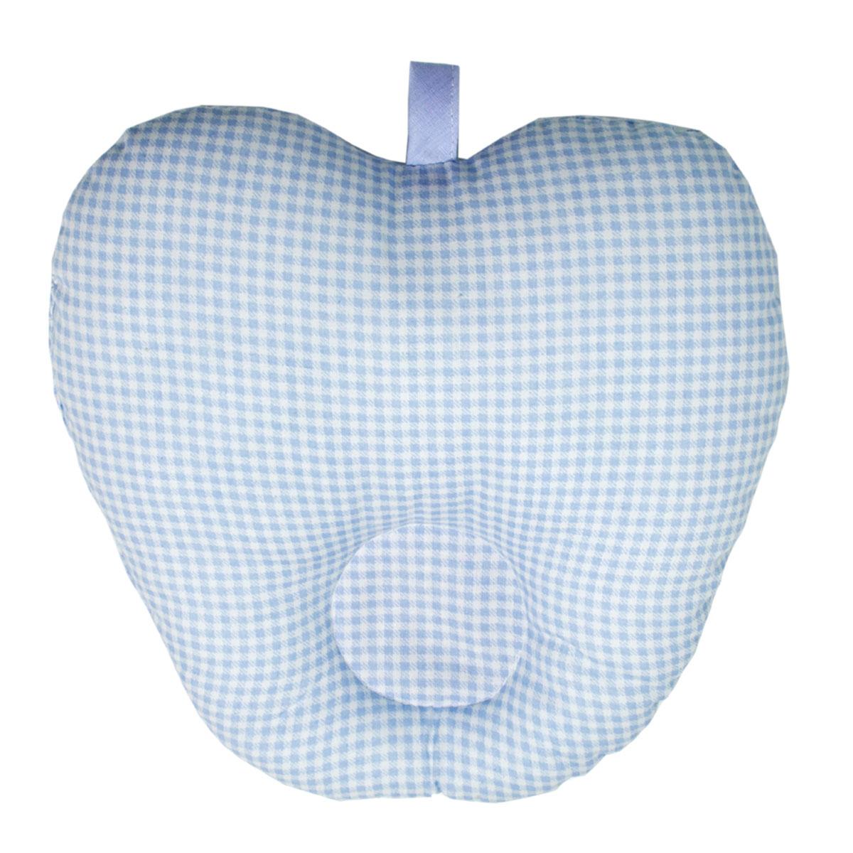 Подушка анатомическая Primavelle Apple для младенцев, цвет: голубой, 25 см х 25 см111062525-18