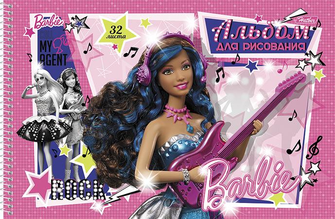 Альбом для рисования Barbie, 32 листа32А4Bсп_14004Альбом для рисования Barbie прекрасно подходит для рисования карандашами и мелками. Обложка выполнена из мелованного картона. Крепление - спираль. В альбоме тонким пунктиром сделана перфорация для последующего отрыва листов. Альбом для рисования непременно порадует художника и вдохновит его на творчество. Рисование позволяет развивать творческие способности, кроме того, это увлекательный досуг. Рекомендуемый возраст: 0+.
