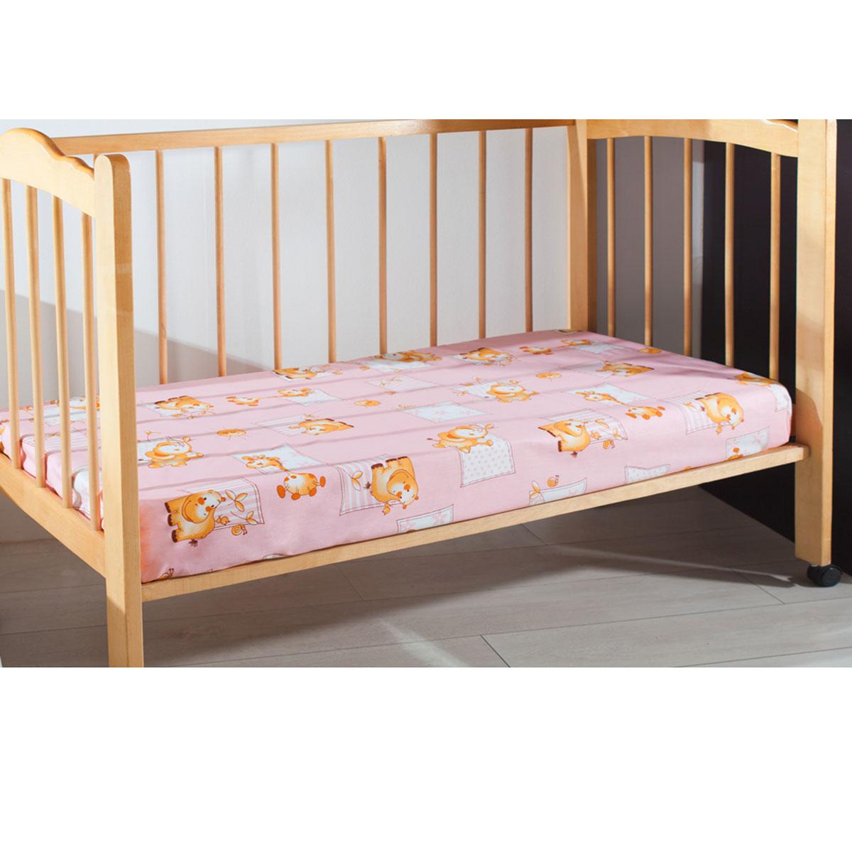 Простыня детская Primavelle, цвет: розовый, 120 см х 180 см11461210-26Мягкая простыня на резинке Primavelle идеально подойдет для кроватки вашего малыша и обеспечит ему здоровый сон. Она изготовлена из натурального 100% хлопка, дарящего малышу непревзойденную мягкость. Подарите вашему малышу комфорт и удобство!