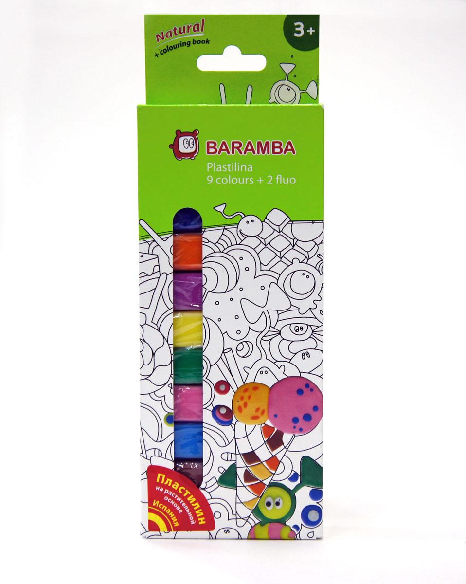 Пластилин Baramba School-hobby, 11 цветовB30009Пластилин Baramba School-hobby - лучший выбор для лепки, он обладает превосходными изобразительными возможностями и поэтому дает простор воображению и самым смелым творческим замыслам. Пластилин, изготовленный на растительной основе, очень мягкий, легко разминается и смешивается, не пачкает руки и не прилипает к рабочей поверхности. Пластилин пригоден для создания аппликаций и поделок, ручной лепки, моделирования на каркасе, пластилиновой живописи - рисовании пластилином по бумаге, картону, дереву или текстилю. Благодаря удобной форме, брусочки пластилина очень удобно держать в руках. В набор входят 9 классических цветов (синий, зеленый, белый, красный, черный, голубой, сиреневый, коричневый, розовый), 2 флуоресцентных цвета (лимонный, оранжевый) и одна раскраска.