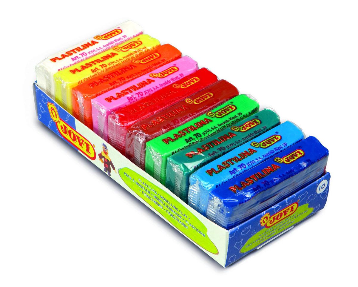 Пластилин Jovi, 10 цветов72523WDПластилин Jovi - это отличная возможность познакомить ребенка с еще одним из видов изобразительного творчества, в котором создаются объемные образы и целые композиции. В набор входит пластилин 10 ярких цветов (белый, желтый, оранжевый, розовый, красный, светло-коричневый, светло-зеленый, зеленый, голубой, синий). Цвета пластилина легко смешиваются между собой, и таким образом можно получить новые оттенки. Пластилин на растительной основе, очень мягкий, имеет яркие, красочные цвета, не затвердевает и не липнет к рукам.Техника лепки богата и разнообразна, но при этом доступна даже маленьким детям. Занятие лепкой не только увлекательно, но и полезно для ребенка. Оно способствует развитию творческого и пространственного мышления, восприятия формы, фактуры, цвета и веса, развивает воображение и мелкую моторику. Вес бруска: 50 г.