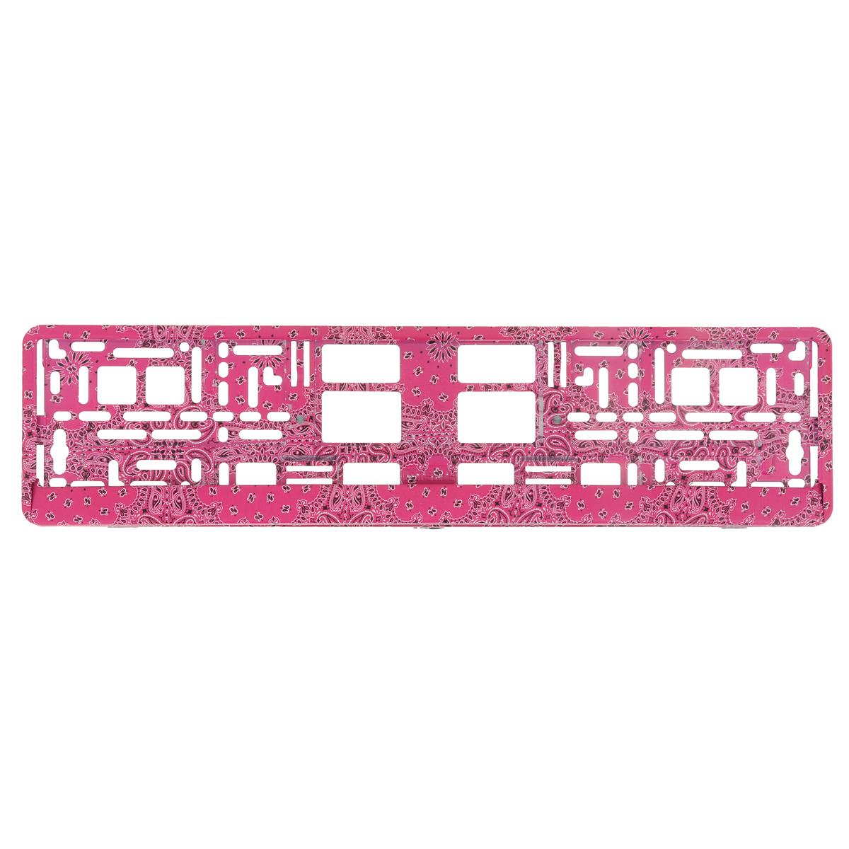 Рамка под номер ОгурецЗ0000014149Рамка Огурец не только закрепит регистрационный знак на вашем автомобиле, но и красиво его оформит. Основание рамки выполнено из полипропилена, материал лицевой панели - пластик. Она предназначена для крепления регистрационного знака российского и европейского образца, декорирована принтом. Устанавливается на все типы автомобилей. Крепления в комплект не входят. Стильный дизайн идеально впишется в экстерьер вашего автомобиля. Размер рамки: 53,5 см х 13,5 см. Размер регистрационного знака: 52,5 см х 11,5 см.
