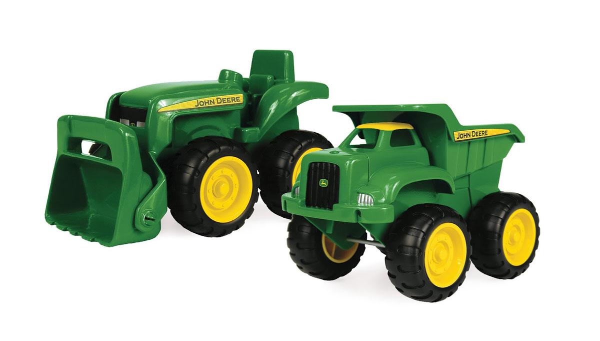 """Набор для песочницы Tomy """"Трактор и самосвал John Deere"""", 2 предмета 42952RU"""