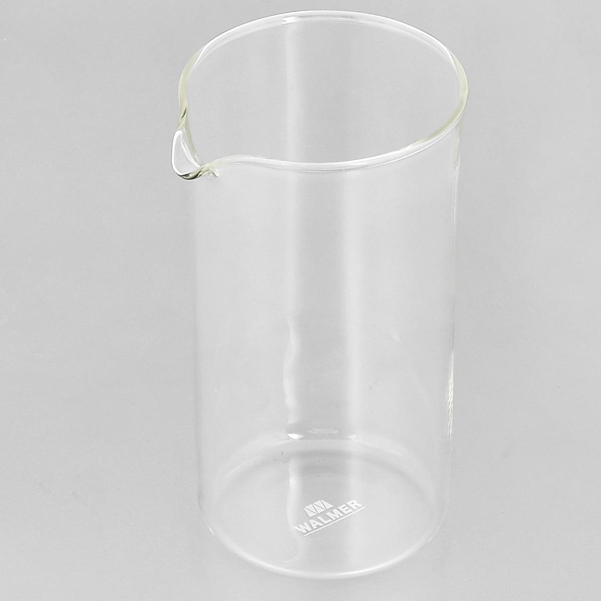 Колба для кофейников Walmer, 350 млW04001035Колба Walmer, изготовленная из высококачественного прозрачного стекла, предназначена для кофейников и френч-прессов. Изделие прекрасно подойдет для замены старой разбитой колбы. Это сосуд, который напрямую контактирует с напитком, поэтому он должен быть выполнен из качественных материалов. Изделие выдерживает высокие температуры и не мутнеет при многократном мытье. Данная колба прослужит вам надежно и долго. Можно мыть в посудомоечной машине. Диаметр: 7 см. Высота: 13,5 см. Объем: 350 мл.