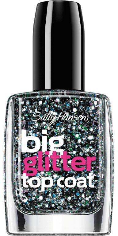 Sally Hansen Nailcare Верхнее покрытие для создания мерцающего эффекта big glitter top coat тон 130, 14,7 мл30535742005Верхнее покрытие для создания мерцающего эффекта