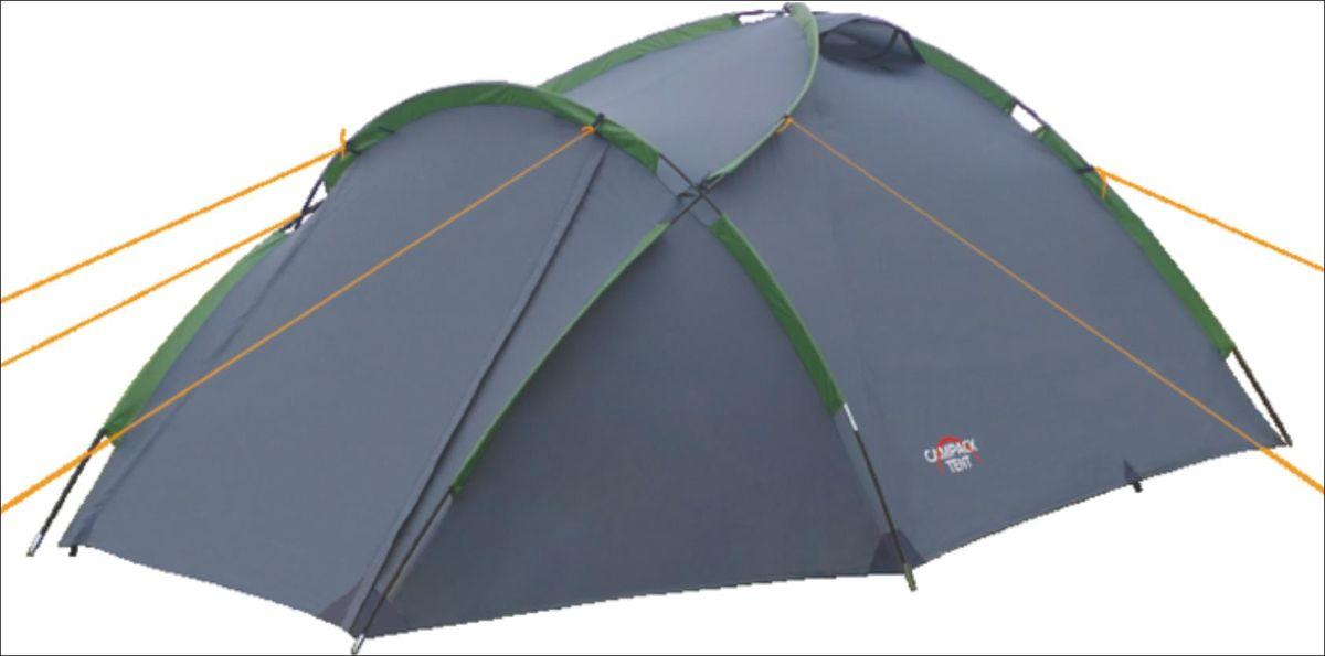 Палатка Campack Tent Land Explorer 3, цвет: серо-зеленый