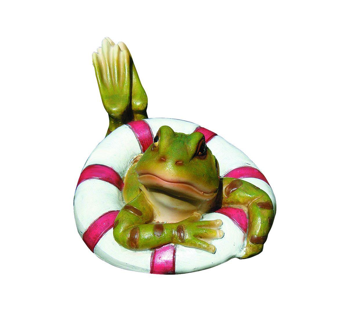Фигурка декоративная Green Apple Лягушка, плавающая green apple green apple квадратный горшок с автополивом на колесиках 45 45 42 красный