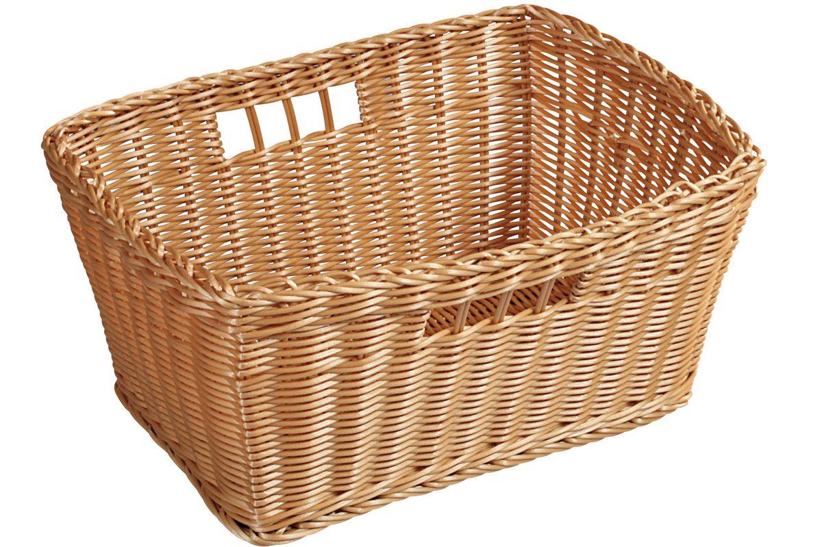 Корзинка для фруктов Kesper, 26 х 24 х 18 см 1782-51782-5Оригинальная плетеная корзинка Kesper прямоугольной формы, выполнена из пластика, напоминающего фактуру дерева. Корзинка прекрасно подойдет для вашей кухни. Она предназначена для красивой сервировки и хранения фруктов. Корзина с двух сторон оснащена отверстиями, за которые ее удобно переносить. Изящный дизайн придется по вкусу и ценителям классики, и тем, кто предпочитает утонченность и изысканность. Можно мыть в посудомоечной машине. Размер корзинки: 26 см х 24 см х 18 см.