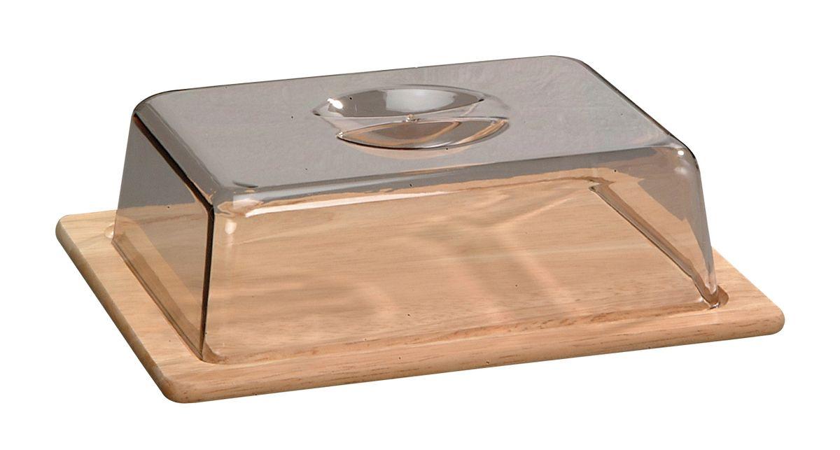 Колпак для хлеба/сыра прямоуг. светлый 6864-36864-3Колпак из пластика дополнен деревянным основанием, которое может служить доской для резки.